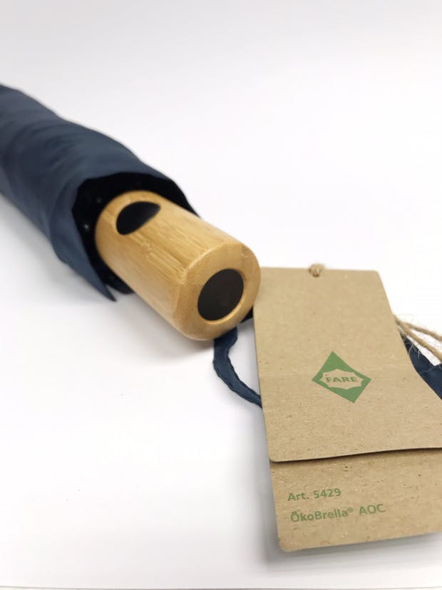 Umbrellas that are made from recycled plastic bottles