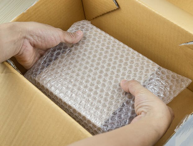 Sustainable and biodegradable bubble wrap