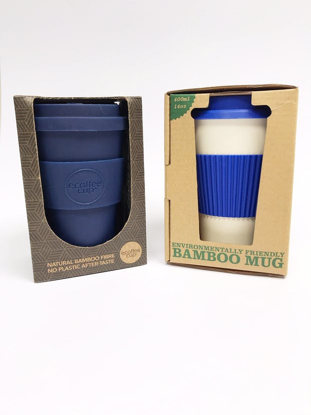 Coffee mugs made from the World's most sustainable material, bamboo.